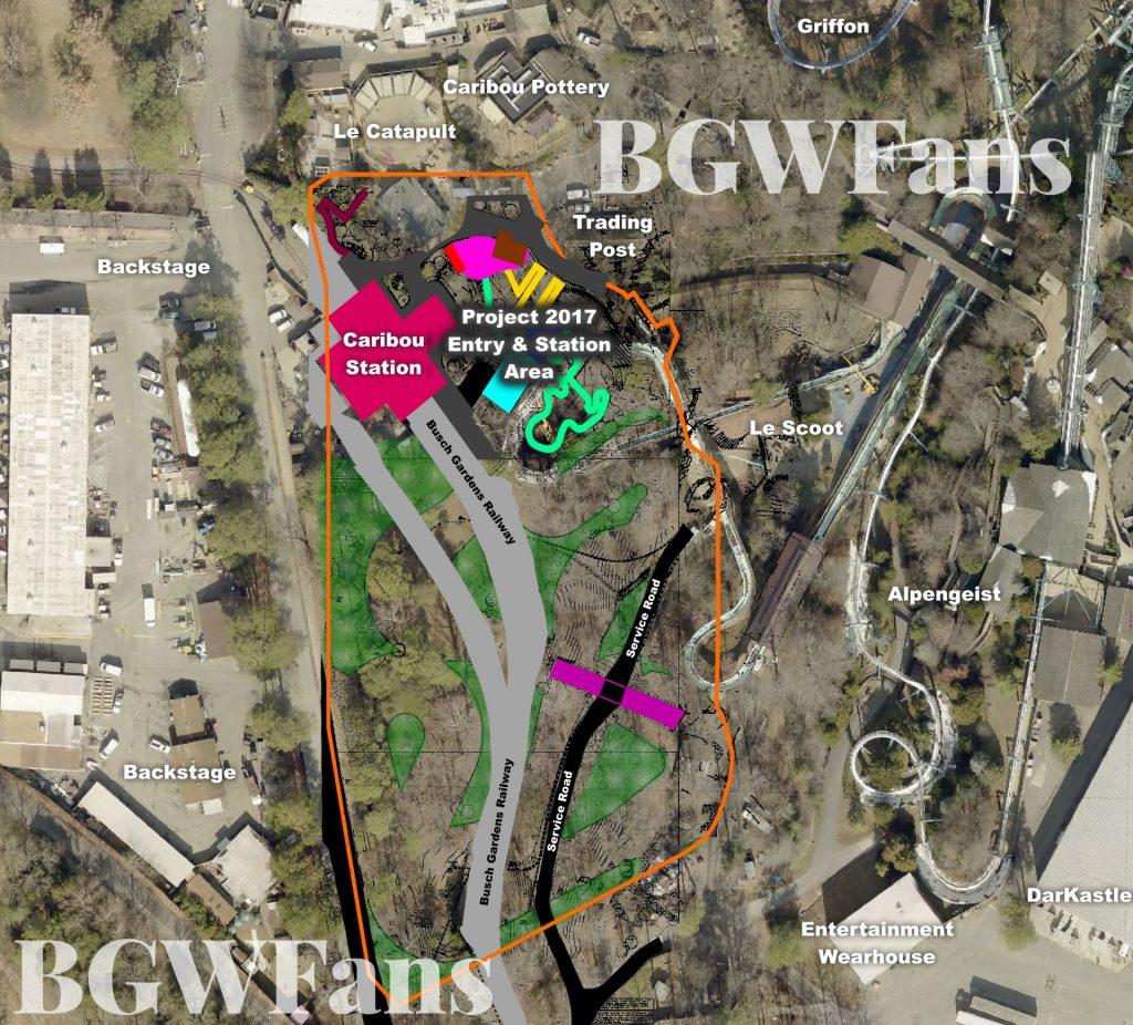 Full Composite Busch Gardens Williamsburg 2017 Site Plan