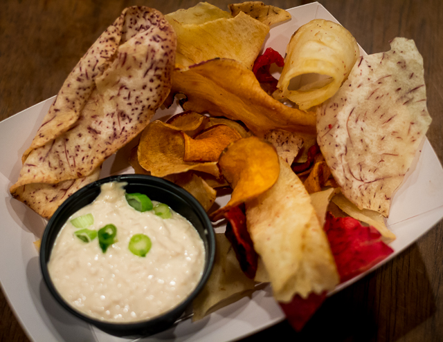 Busch Gardens Williamsburg Food and Wine Festival 2016 Root Vegetable Chips with Maui Onion Dip