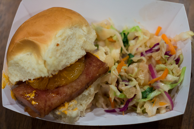 Busch Gardens Williamsburg Food and Wine Festival 2016 SPAM Slider