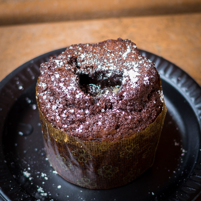 Busch Gardens Williamsburg Food and Wine Festival 2016 Chocolate Lava Cake