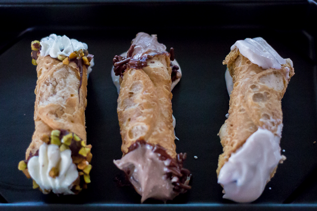 Busch Gardens Williamsburg Food and Wine Festival 2016 Mini Cannoli Trio
