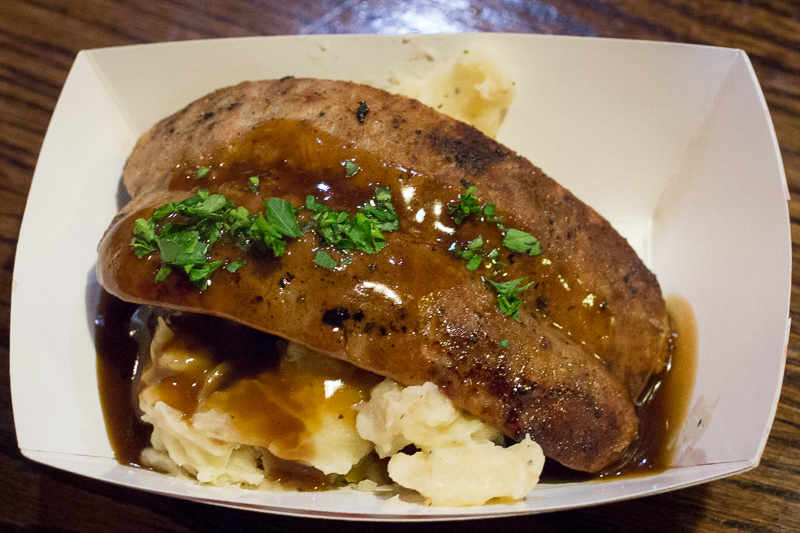 Busch Gardens Williamsburg Food and Wine Festival 2017 Bangers with Colcannon