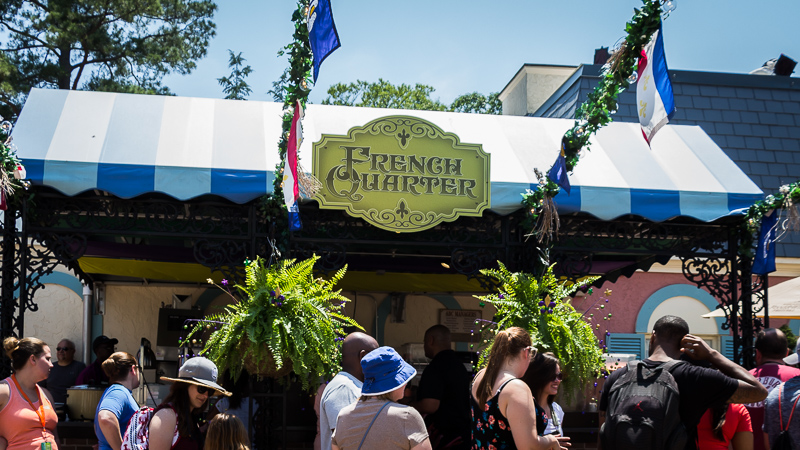 Busch Gardens Williamsburg Food and Wine Festival 2017 French Quarter