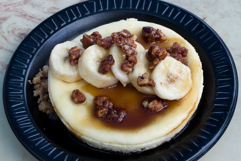 Busch Gardens Williamsburg Food and Wine Festival 2017 Bananas Foster Cheesecake