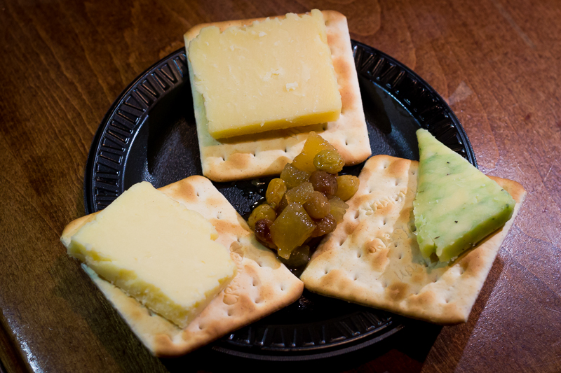 Busch Gardens Williamsburg Food and Wine Festival 2017 Irish Cheese Sampling