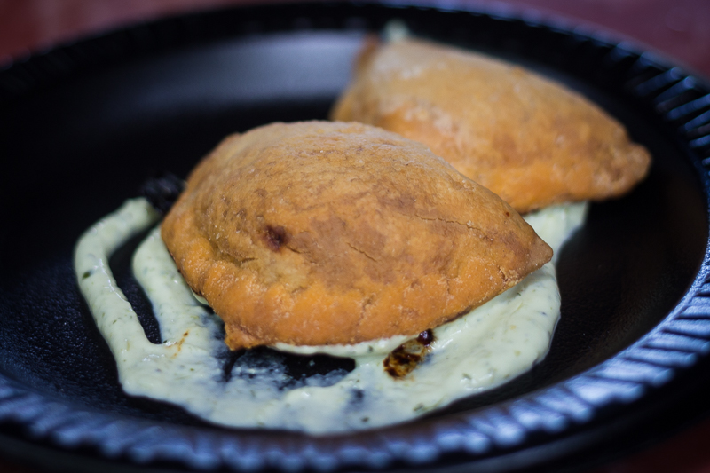 Busch Gardens Williamsburg Food and Wine Festival 2017 Chorizo Empanada