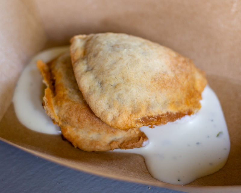 Busch Gardens Williamsburg Food and Wine Festival 2019 Chorizo Empanada