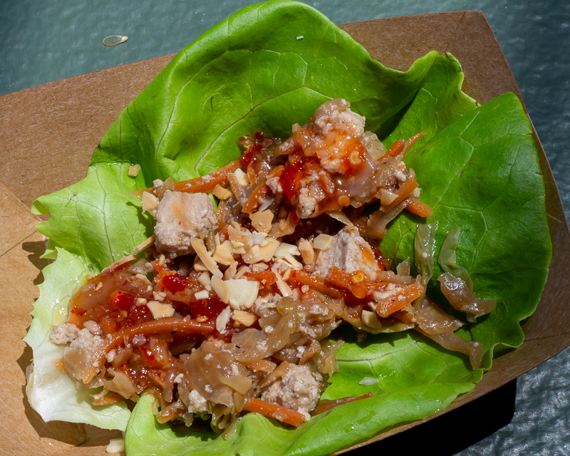 Busch Gardens Williamsburg Food and Wine Festival 2019 Lettuce Wrap